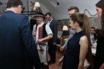Slowakische Folklore mit Musik