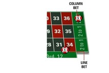 Line and Column bets in Roulette