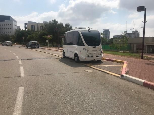 Autonomous minibus. Amizur Nachshoni