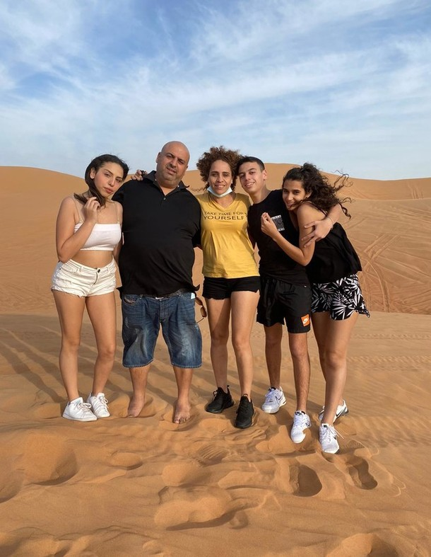 The Levy family during their vacation in Dubai. Photo by Amizur Nachshoni