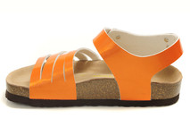 Birkenstock makes shoes with birko-flor uppers