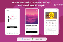 What are the market aspects of creating a multi-service app like Gojek